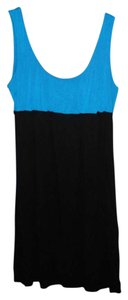 Velvet Torch short dress Color Block Blue Stretch on Tradesy