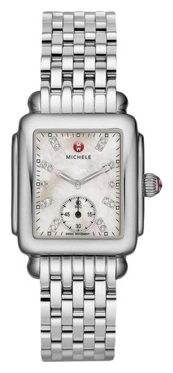 Preload https://img-static.tradesy.com/item/26260560/michele-silver-deco-mid-stainless-steel-mother-of-pearl-diamond-dial-mww06v000002-watch-0-1-540-540.jpg