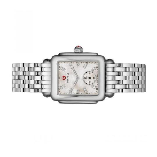 Michele Deco Mid Stainless Steel Mother Of Pearl Diamond Dial Mww06v000002 Image 1