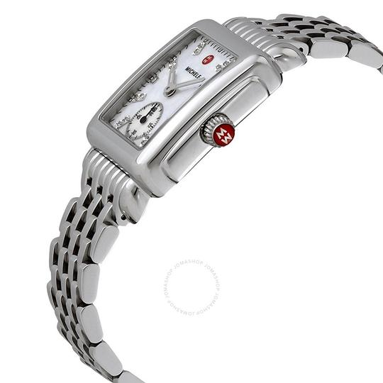 Michele Deco Mid Stainless Steel Mother Of Pearl Diamond Dial Mww06v000002 Image 6