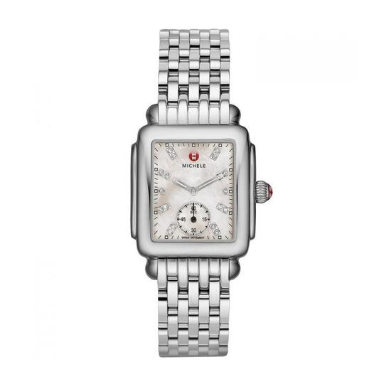 Michele Deco Mid Stainless Steel Mother Of Pearl Diamond Dial Mww06v000002 Image 8