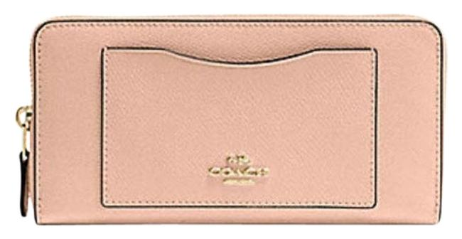 Item - Pink Accordion Zip Nude Crossgrain Leather F 54007 Nude Wallet