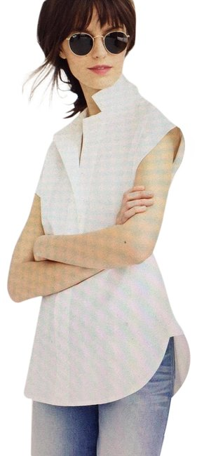 Item - White Pop-over Shirt Button-down Top Size 14 (L)