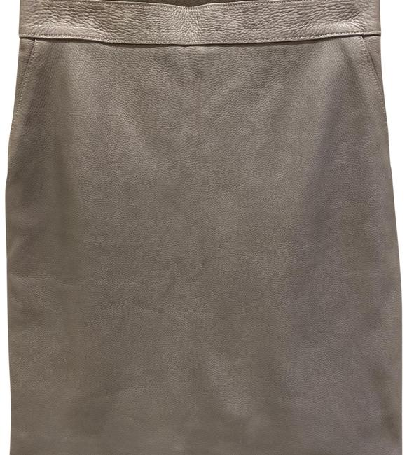 Item - Grey Leather Skirt Size 4 (S, 27)
