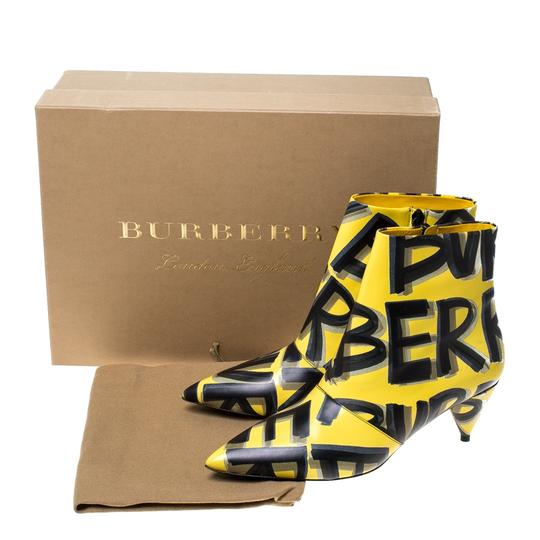 Burberry Leather Ankle Pointed Toe Yellow Boots Image 7