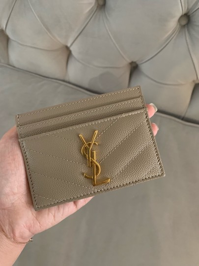 Saint Laurent quilted leather card holder Image 11