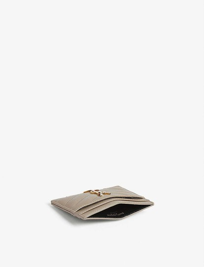 Saint Laurent quilted leather card holder Image 3
