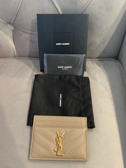 Saint Laurent quilted leather card holder Image 5