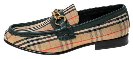 Preload https://img-static.tradesy.com/item/26261695/burberry-beige-green-leather-and-check-canvas-moorley-loafers-flats-size-eu-365-approx-us-65-regular-0-1-540-540.jpg