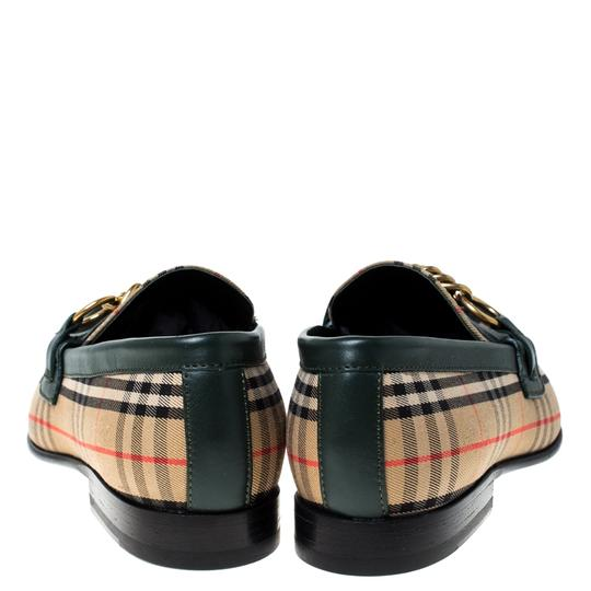 Burberry Leather Canvas Chain Detail Beige Flats Image 4