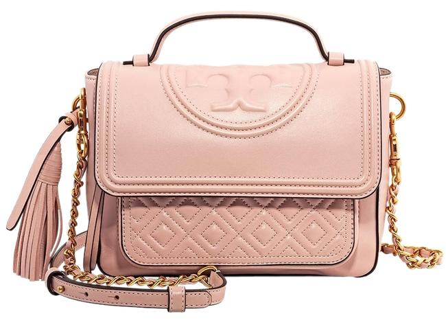 Item - Fleming Satchel Shell Pink Quilted Leather Cross Body Bag
