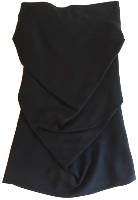 Item - Navy Ruched Skirt Size 4 (S, 27)