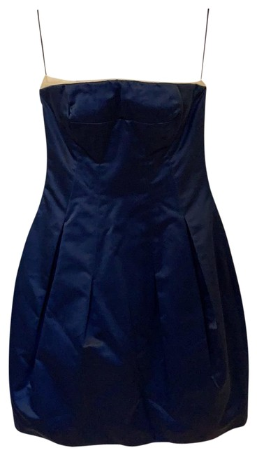 Item - Navy Blue with White Trim 209674 Mid-length Cocktail Dress Size 10 (M)