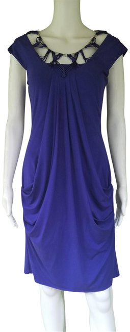 Item - Violet Draoed Beaded Macrame Neckline Mid-length Night Out Dress Size 8 (M)