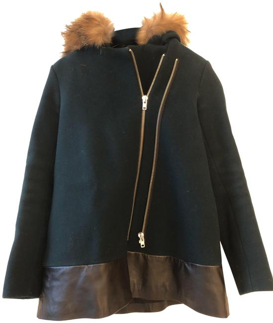 Preload https://img-static.tradesy.com/item/26262592/sandro-dark-green-wool-with-fur-lined-hood-and-leather-trim-coat-size-6-s-0-1-650-650.jpg