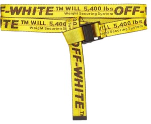 Off-White™ yellow Industrial logo jacquard canvas belt