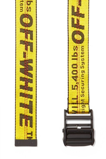 Off-White yellow Industrial logo jacquard canvas belt Image 2
