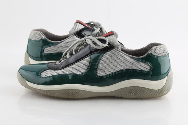Item - Multi-color America's Cup Green Patent Leather Technical Fabric Sneakers Shoes