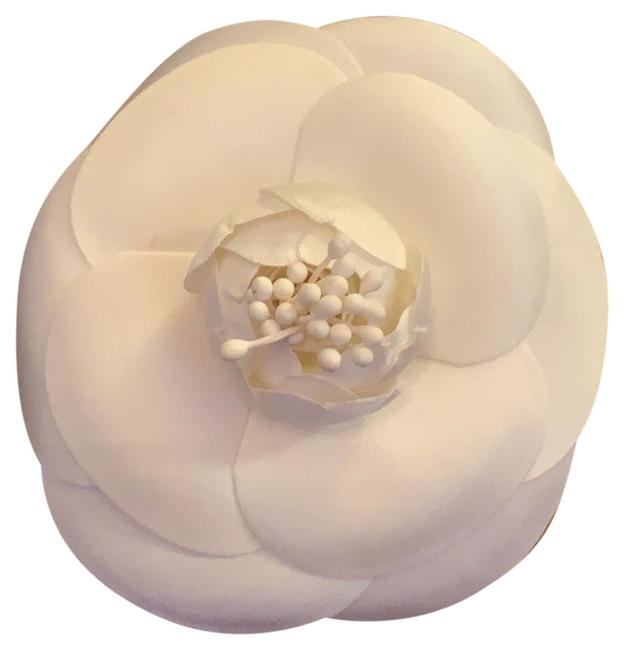 Item - White Chanel Style Only Camellia