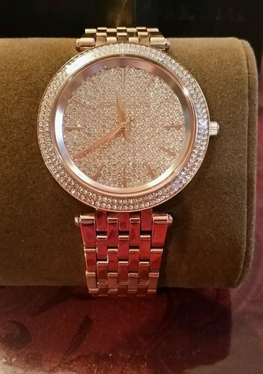 Michael Kors New Michael Kors Darci Collection Rose Gold Tone Pave Crystal Watch Image 1
