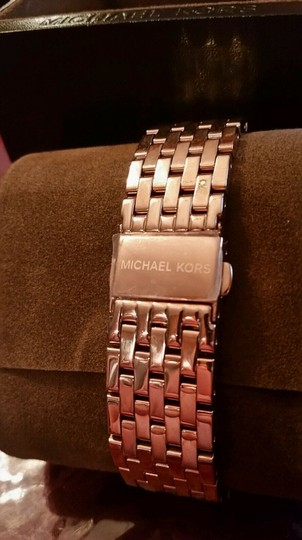Michael Kors New Michael Kors Darci Collection Rose Gold Tone Pave Crystal Watch Image 2