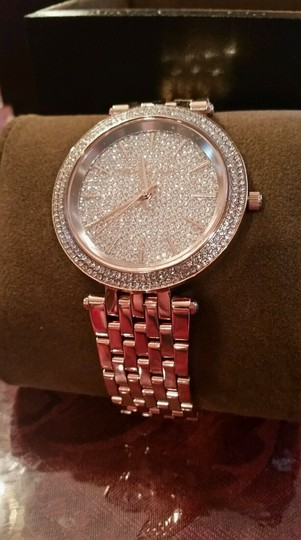 Michael Kors New Michael Kors Darci Collection Rose Gold Tone Pave Crystal Watch Image 3