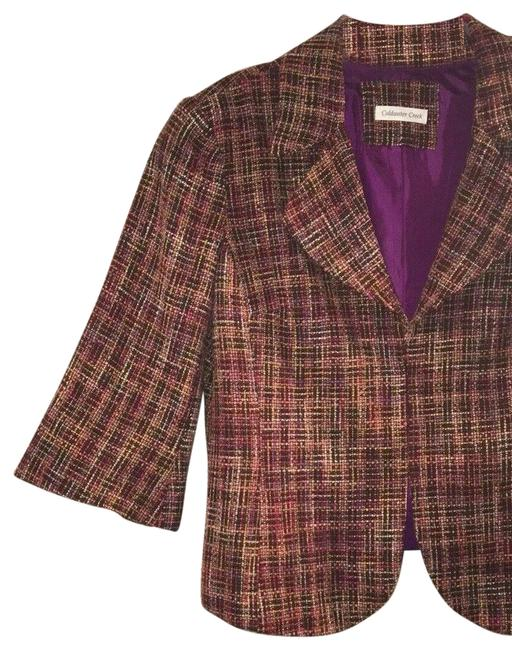 Preload https://img-static.tradesy.com/item/26262812/coldwater-creek-multicolor-plaid-tweed-bell-sleeved-blazer-jacket-size-petite-14-l-0-3-650-650.jpg