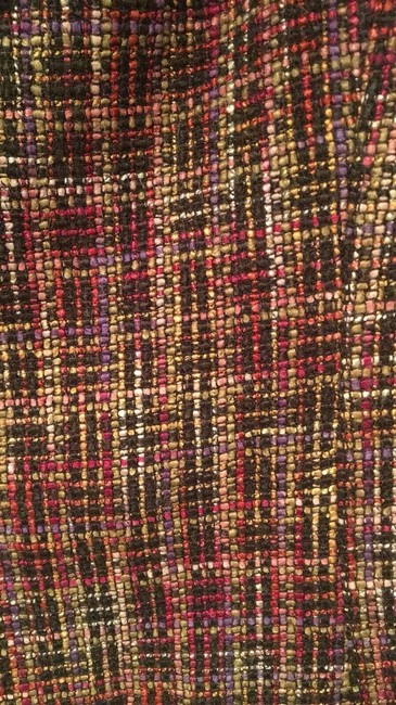 Coldwater Creek Plaid Bell Sleeves Tweed Textured Petite Multicolor Jacket Image 4