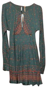 NEW turquoise with cherry print Maxi Dress by Free People