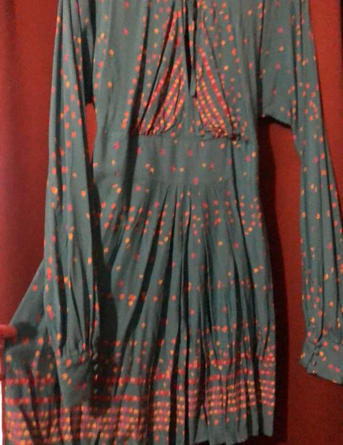 NEW turquoise with cherry print Maxi Dress by Free People Image 5