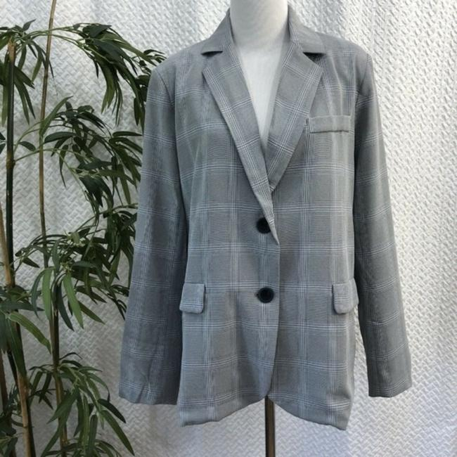Walter by Walter Baker Oversized Plaid gray Blazer Image 1
