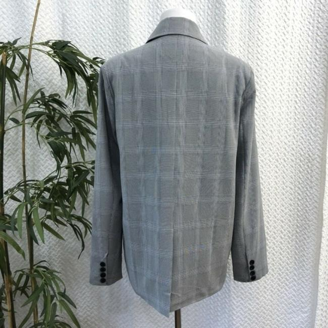 Walter by Walter Baker Oversized Plaid gray Blazer Image 3