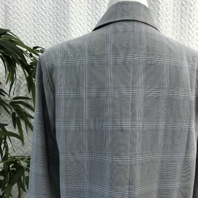 Walter by Walter Baker Oversized Plaid gray Blazer Image 4