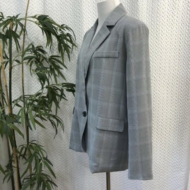 Walter by Walter Baker Oversized Plaid gray Blazer Image 5