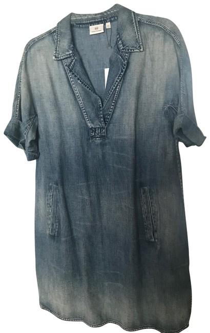 Preload https://img-static.tradesy.com/item/26262877/ag-adriano-goldschmied-blue-chambray-tunic-short-casual-dress-size-4-s-0-1-650-650.jpg