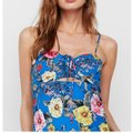 Blue Maxi Dress by Express Floral Beach Cut Out Image 2