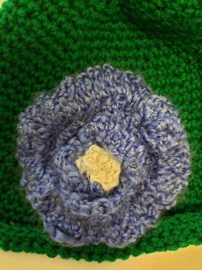 no name Handmade Green crochet extra large hat Image 2