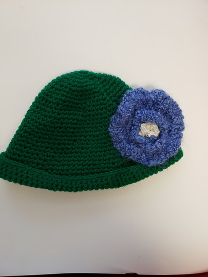 no name Handmade Green crochet extra large hat Image 6