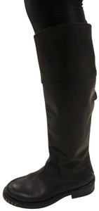 CoSTUME NATIONAL black outside, grey leather inside Boots