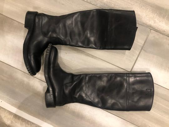 CoSTUME NATIONAL black outside, grey leather inside Boots Image 10