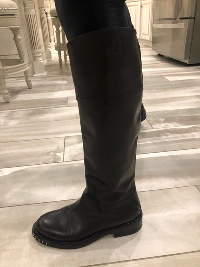 CoSTUME NATIONAL black outside, grey leather inside Boots Image 11