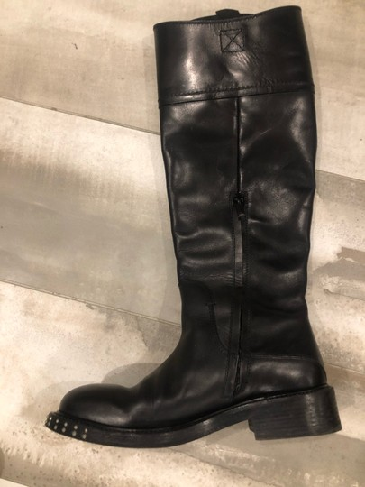 CoSTUME NATIONAL black outside, grey leather inside Boots Image 4