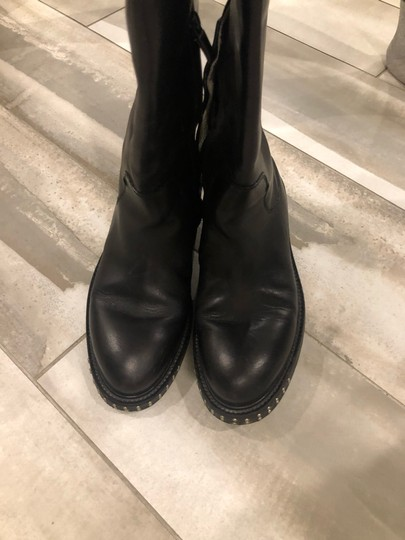 CoSTUME NATIONAL black outside, grey leather inside Boots Image 5