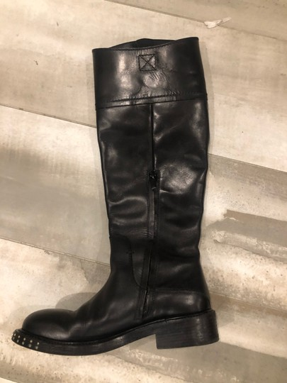 CoSTUME NATIONAL black outside, grey leather inside Boots Image 9