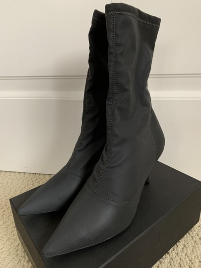 YEEZY Pointed Toe Stretch Reflective Gray Boots Image 2