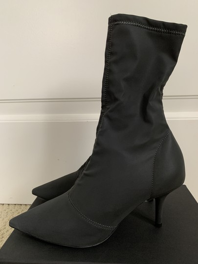 YEEZY Pointed Toe Stretch Reflective Gray Boots Image 3