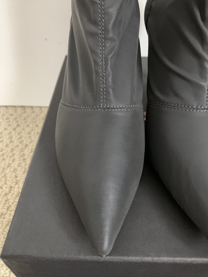 YEEZY Pointed Toe Stretch Reflective Gray Boots Image 6