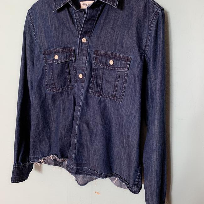 Madewell Button Down Shirt Blue Image 2