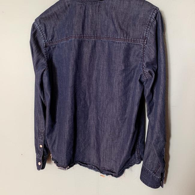 Madewell Button Down Shirt Blue Image 4
