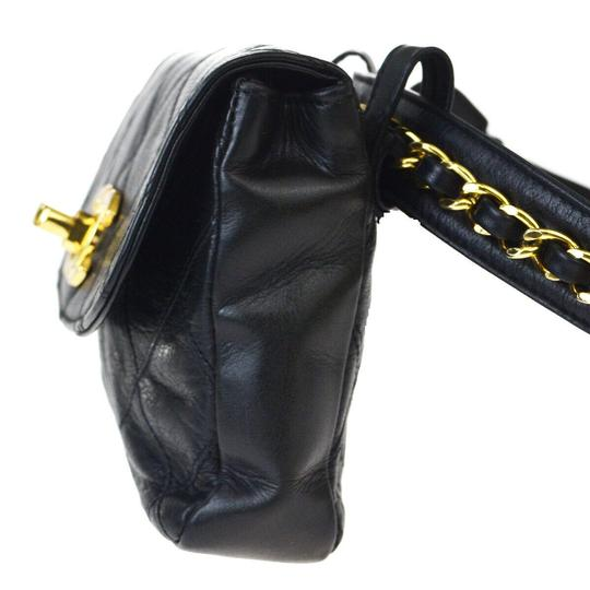 Chanel Quilted Chain Cc Leather Rare Cross Body Bag Image 2